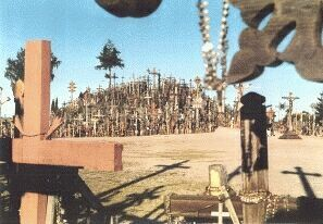 Hill of the crosses in Lithuania